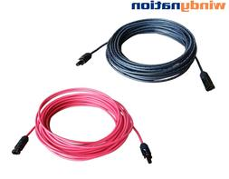Pair Black + Red Solar Panel Extension Cable Wire Solar Conn