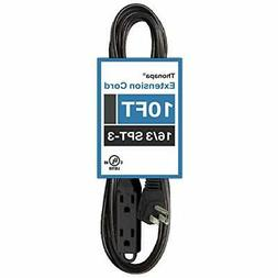 10 Ft Extension Cord with 3 Electrical Power Outlets- 16/3 D