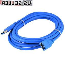 10Ft/3M USB 3.0 Extension Cable, A-Male to A-Female Data Cor