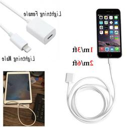 1m/2m Lightning extension cable pass video audio For iPhone
