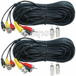 2 x150 ft Audio Video Power Extension Cables RCA HD SDI Secu