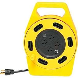 Woods 2801 Extension Cord Reel With Four 3-Prong Power Outle