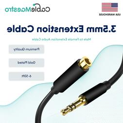 3.5mm Audio Extension Cable Headphone Stereo Cord Male to Fe