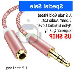 3.5mm Audio Extension Cable Stereo Headphone Cord Male to Fe