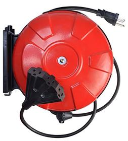 Southwire 48006SW Retractable Cord Reel with 30-Foot 14/3 Bl