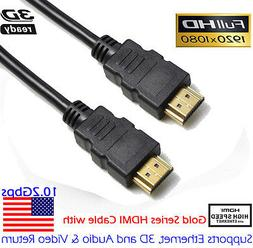 3FT HDMI Cable V1.4 3D High Speed with Ethernet HEC Full HD