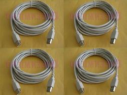 4 Lot x 10Ft PREMIUM USB 2.0 Male to Female Extension Cord S