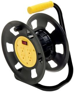 4 Outlets Retractable Extension Cord Reel
