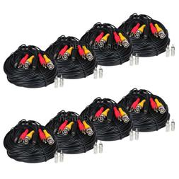 8x 50 ft Audio Video Power Extension Cable for DVR Security