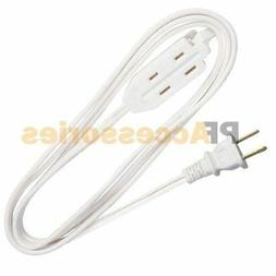 9 FT 3 Outlet 2 Prong Indoor Wall Power AC Extension Cord Ca