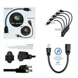 Etekcity 5 Pack Power Extension Cord Cable, Outlet Saver, 3