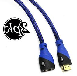 HDMI Extension Cable  with Ethernet, Male to Female with Bra