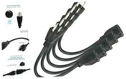 ClearMax PWR18-12001 3 Prong Power Extension Cord - Cable St