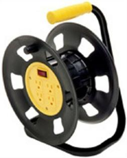 Coleman Cable E230 Black and Yellow Retractable Extension Co