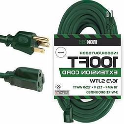 Iron Forge Cable 100 Ft Outdoor Extension Cord - 16/3 Durabl