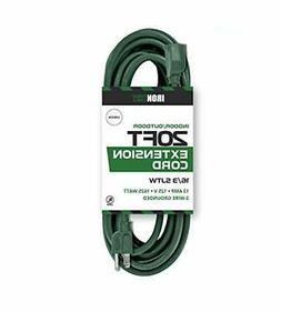Iron Forge Cable 16/3 SJTW Green Extension Cable with 3 Pron