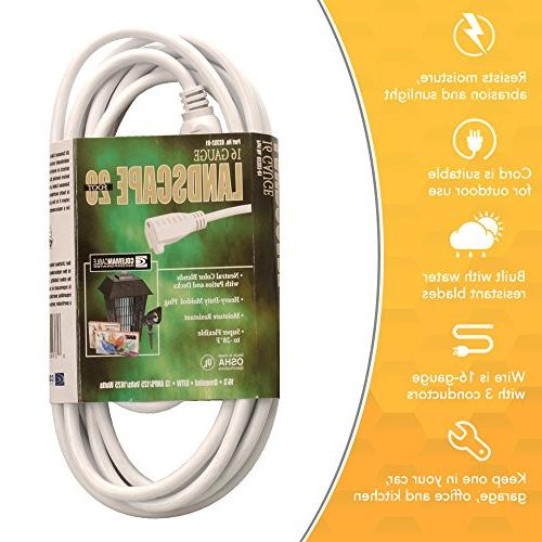 Coleman Outdoor Cord In White
