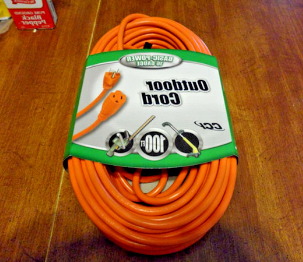 heavy duty extension cord 100 ft outdoor