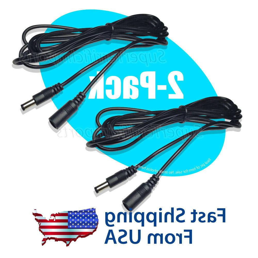 2 x dc extension power cord cable