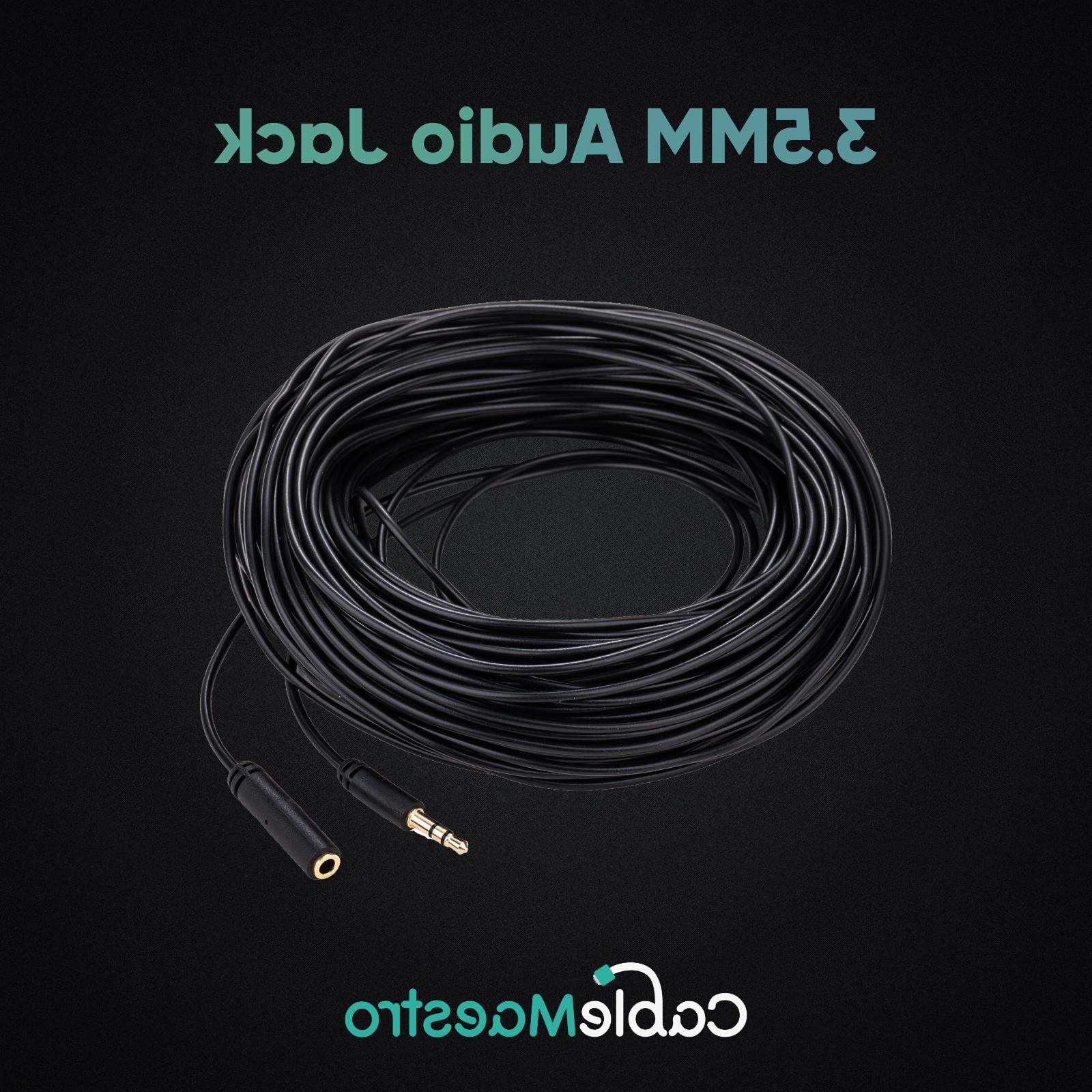 3.5mm Audio Extension Cable Headphone Cord to AUX Car MP3