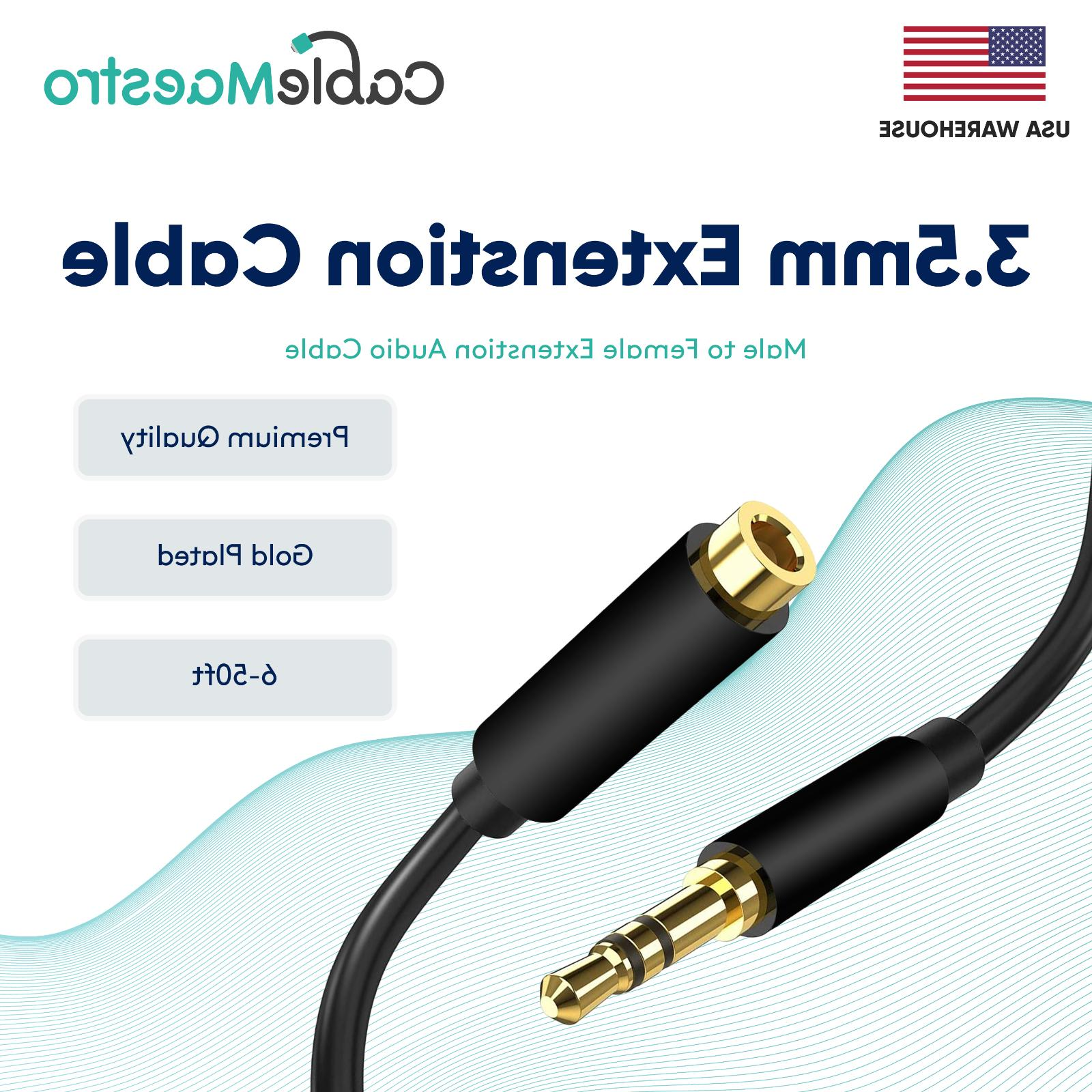 3 5mm audio extension cable headphone stereo