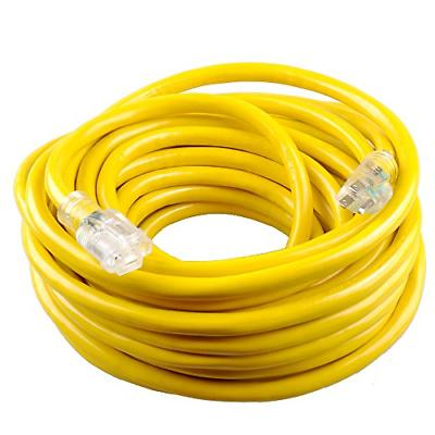 50 feet yellow extension cord 12 3awg