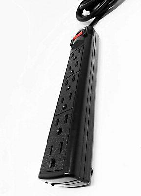 Digital 6-Outlet Surge Protector with 25-Ft Long Extension...