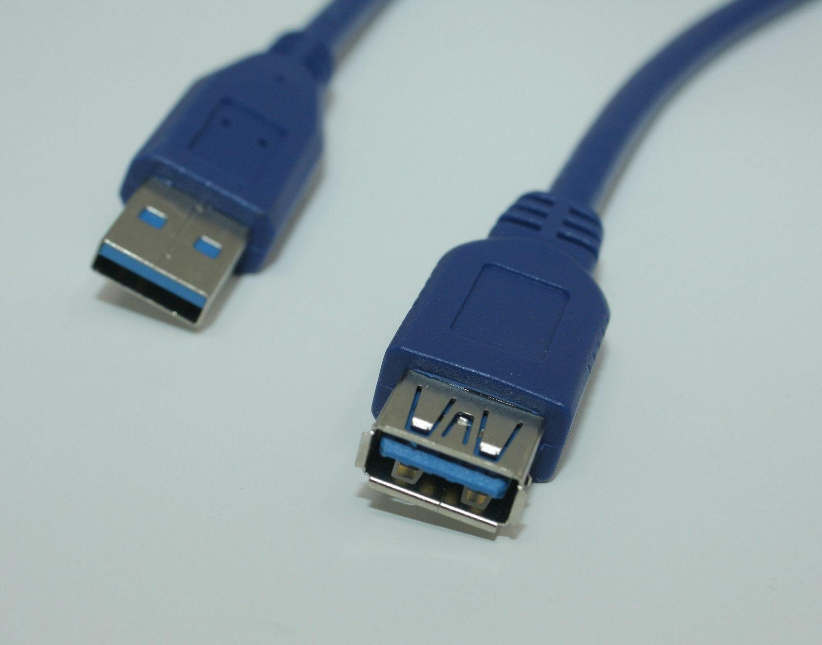 Premium Quality Blue 3Feet Male to Female Extension Cable
