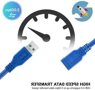 USB Extension Cable High-Speed Printer Keyboard Mouse