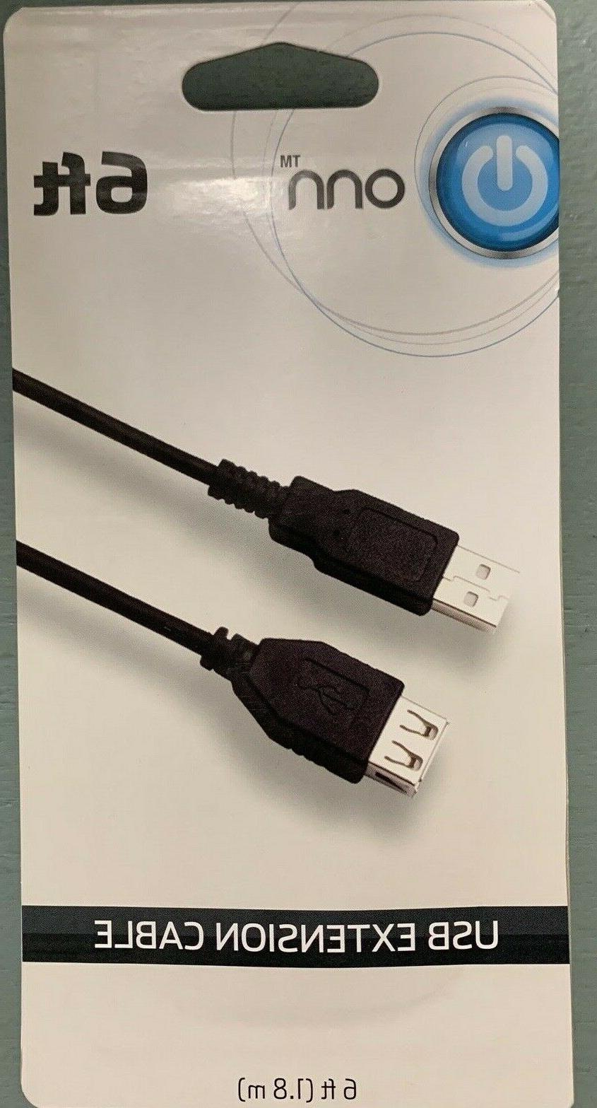 usb extension cable length 6 ft new