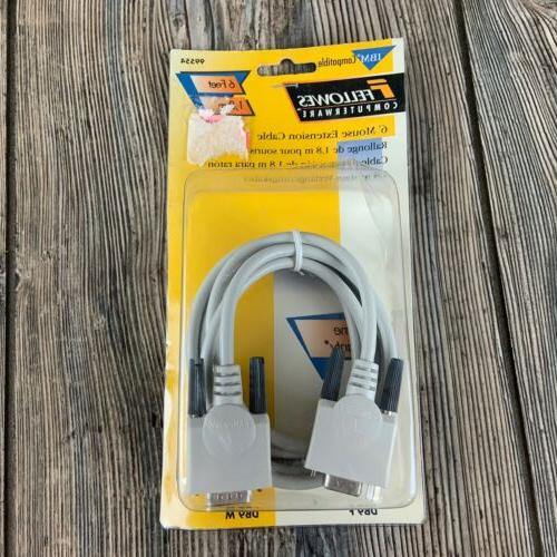 vintage fellowes 6 ft mouse extension cable