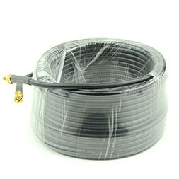 15-Meter Low Loss RG58 SMA Female to SMA Male Extension Coax