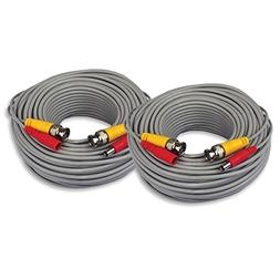 ISEEUSEE 2 Pack 60 Feet Pre-Made All-in-One BNC Video Power