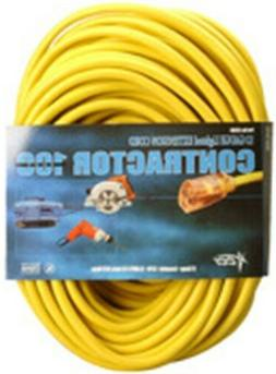 Coleman Cable Power Extension Cord - Yellow
