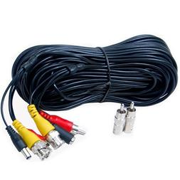 VideoSecu 100ft Security Camera BNC Audio Video Power Cable