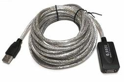 HIGH SPEED USB 2.0 EXTENSION White CABLE 6' A MALE to A FEMA