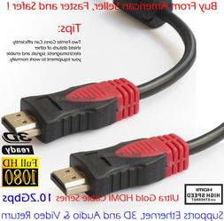 Ultra 10.2Gbps High Speed HDMI Cable w/Ferrite Cores, Black