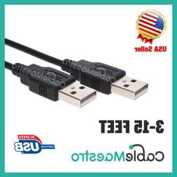 USB 2.0 Extender Extension Cable Cord Type A Male to A Male