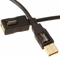 AmazonBasics USB 2.0 Extension Cable - A-Male to A-Female, 3